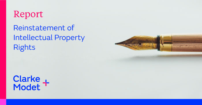 Report   Reinstatement of Intellectual Property Rights
